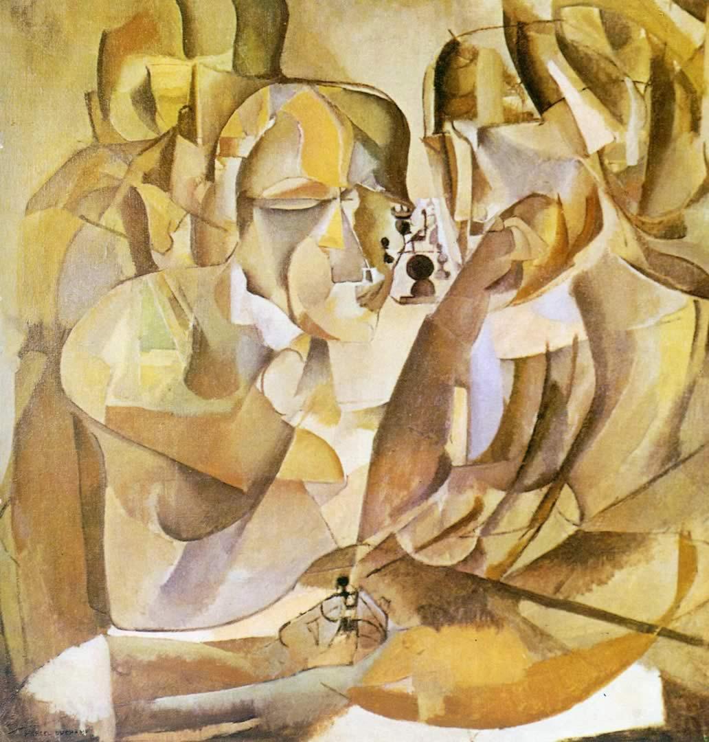 1032x1080 Chân dung các kỳ thủ cờ vua - Hình nền Marcel Duchamp