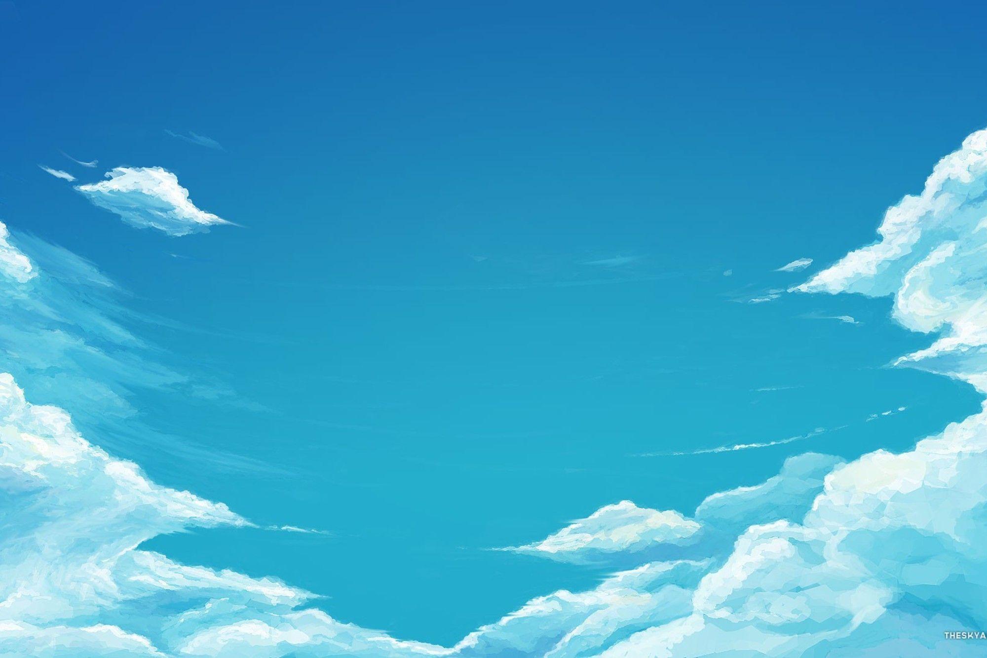 Cartoon Sky Wallpapers Top Free Cartoon Sky Backgrounds Wallpaperaccess