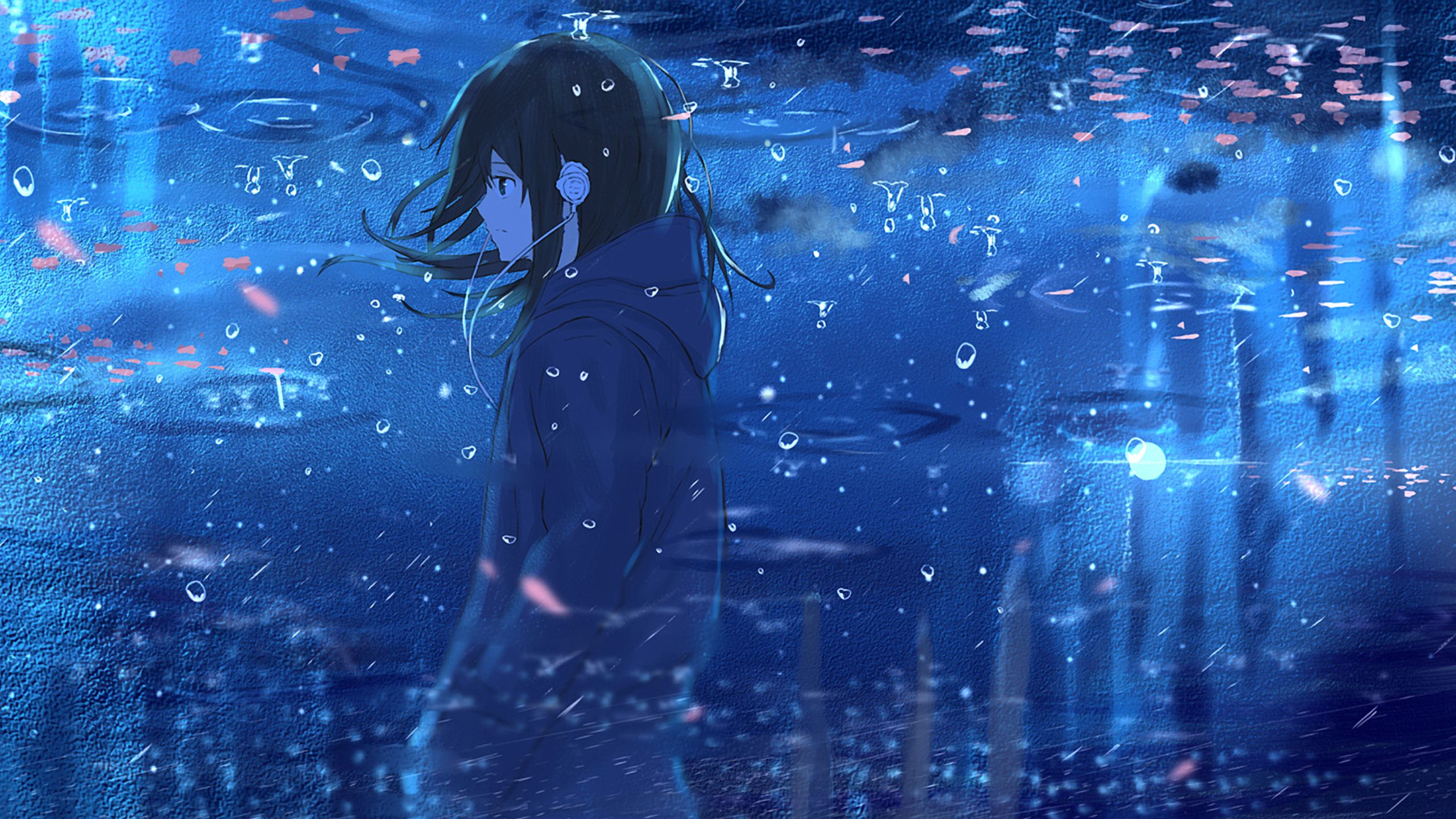 Blue Anime 2560x1440 Wallpapers Top Free Blue Anime 2560x1440 Backgrounds Wallpaperaccess