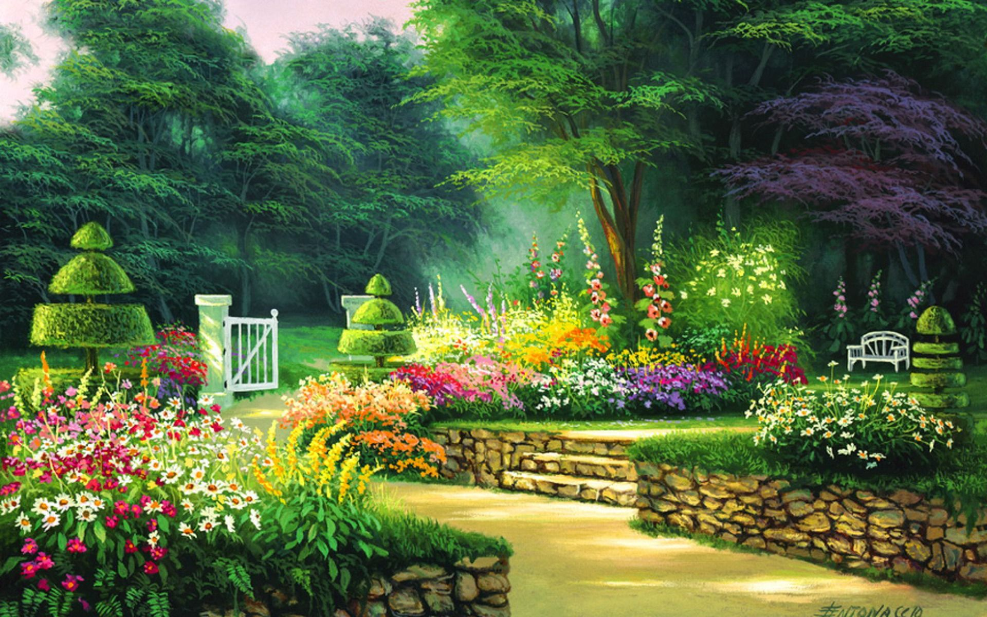 Garden Wallpapers Top Free Garden Backgrounds Wallpaperaccess