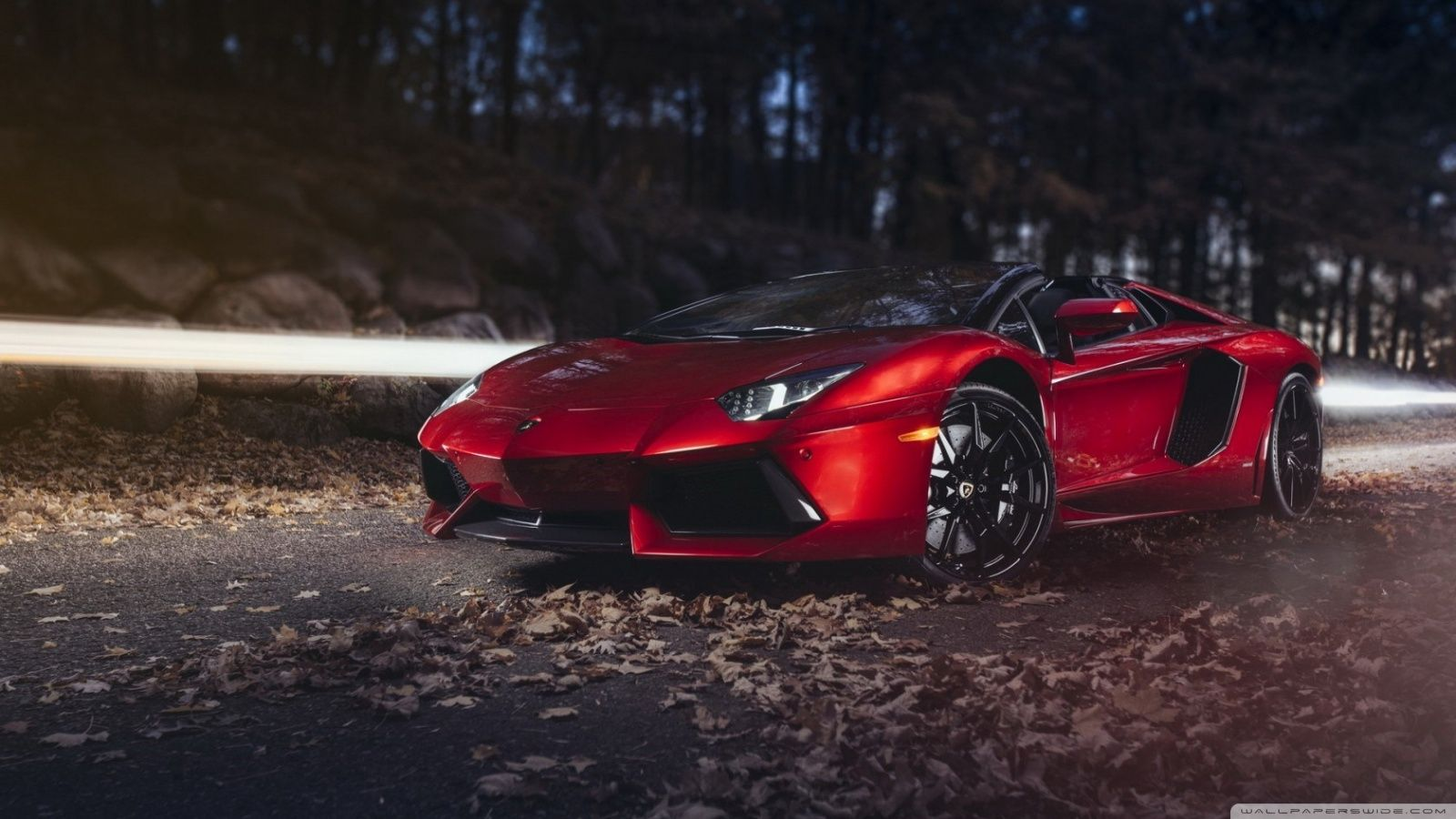 Red Lamborghini Car Hd Wallpaper