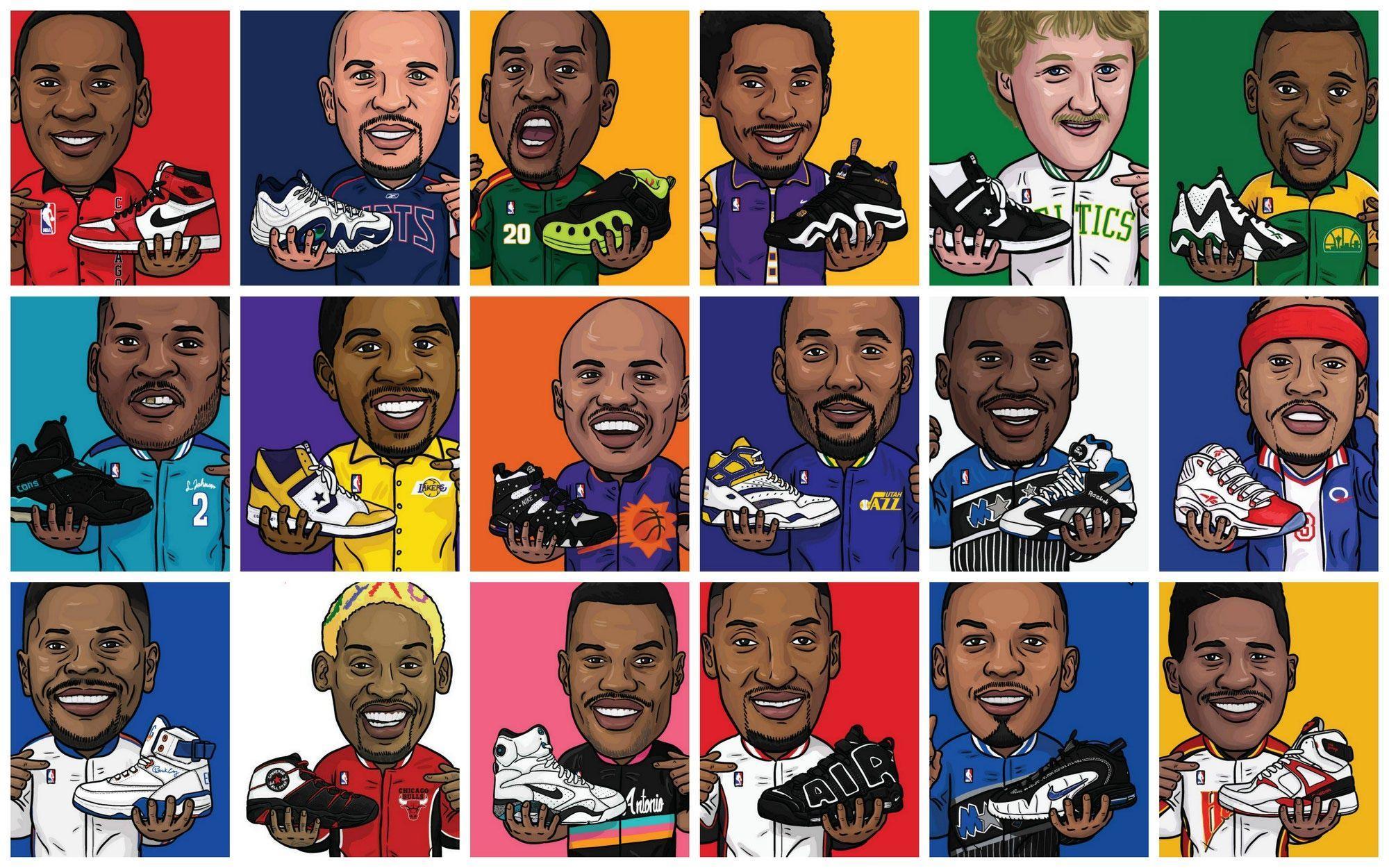 Dope Cartoon Nba Players: Cartoon NBA Players Wallpapers
