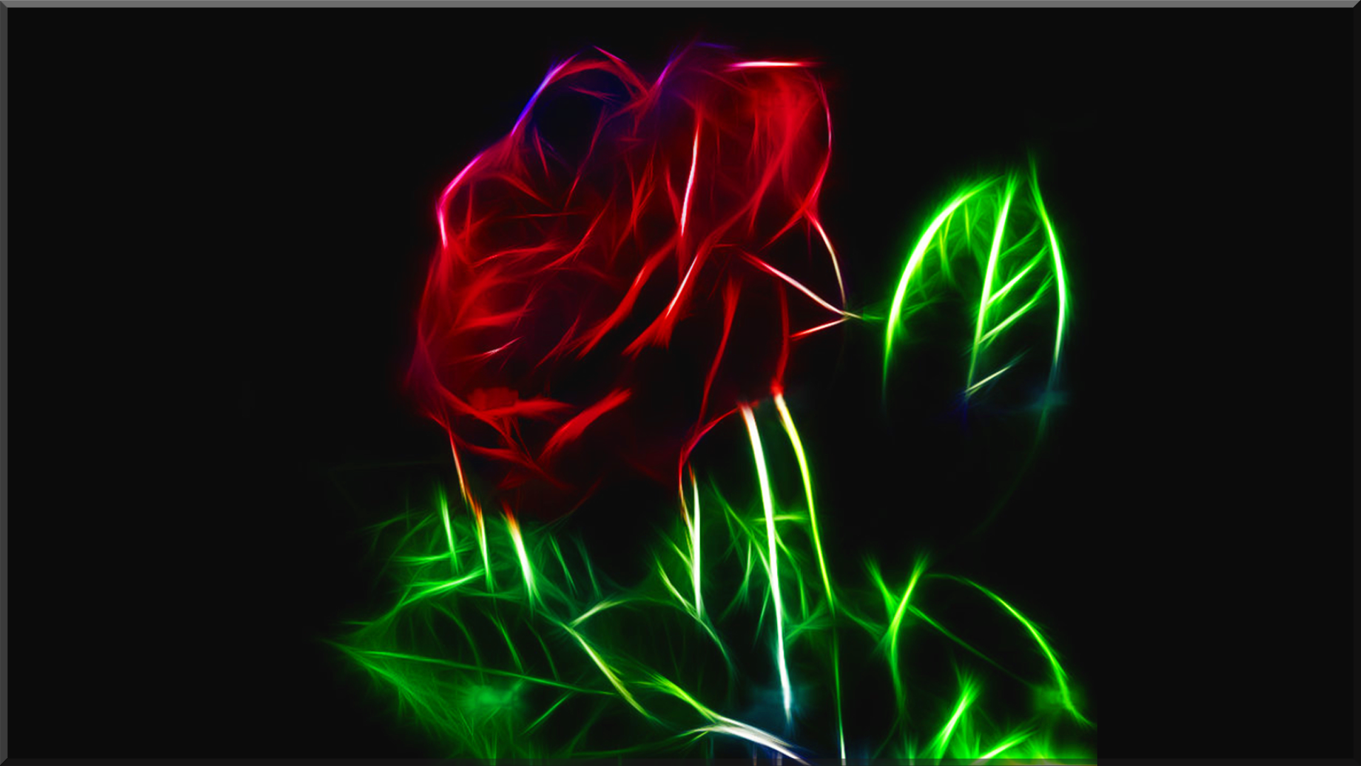 Neon Rose Wallpapers Top Free Neon Rose Backgrounds Wallpaperaccess
