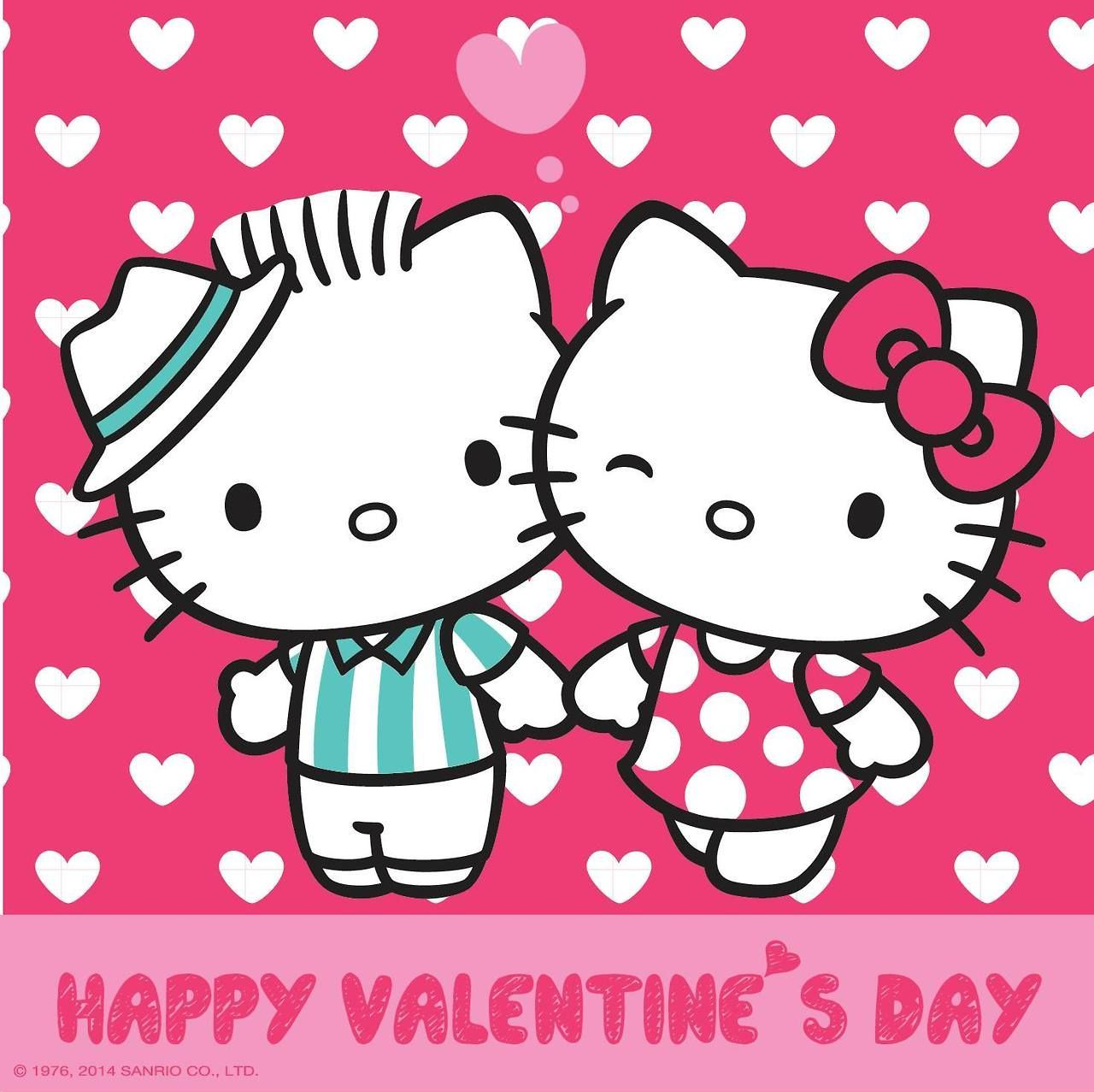 1280x1277 Dear Daniel and Hello Kitty on Valentine's Day high res