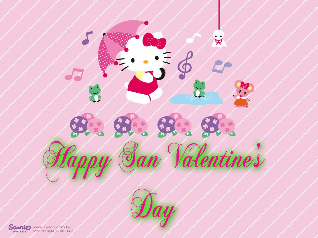 1024x768 hello kitty san valentine day - Hello Kitty Fan Art