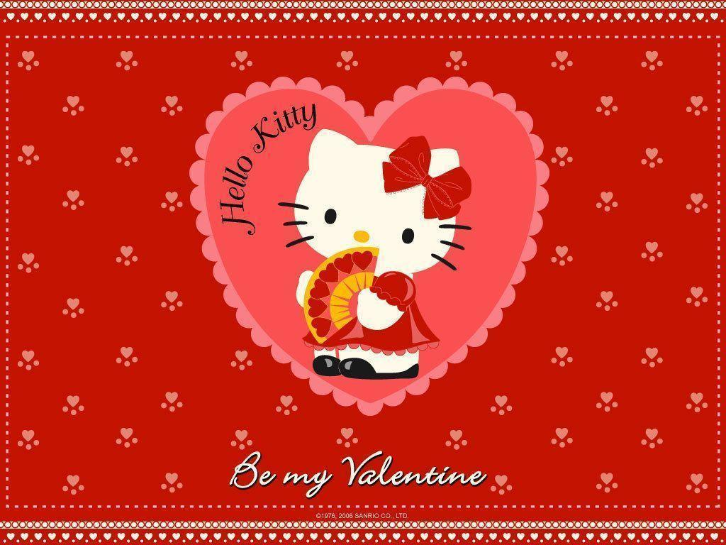1024x768 Hello Kitty Valentine Wallpaper