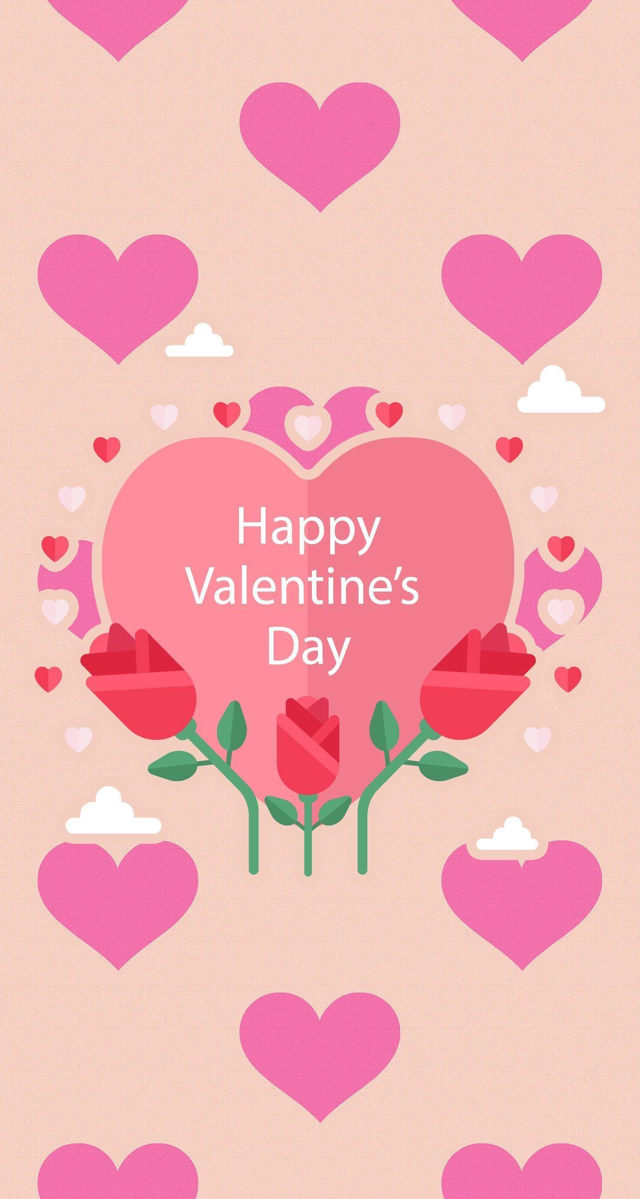 1256x2353 Kitty Valentines Wallpaper