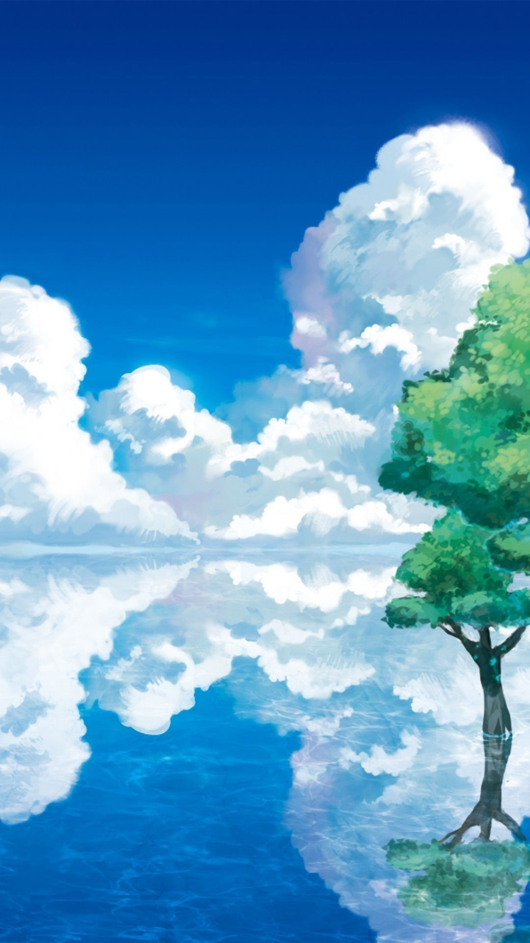 Anime landscape phone wallpapers top free anime - Anime phone wallpaper hd ...