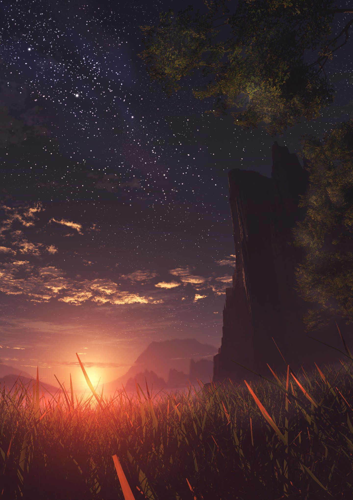 Anime Landscape Phone Wallpapers - Top Free Anime ...
