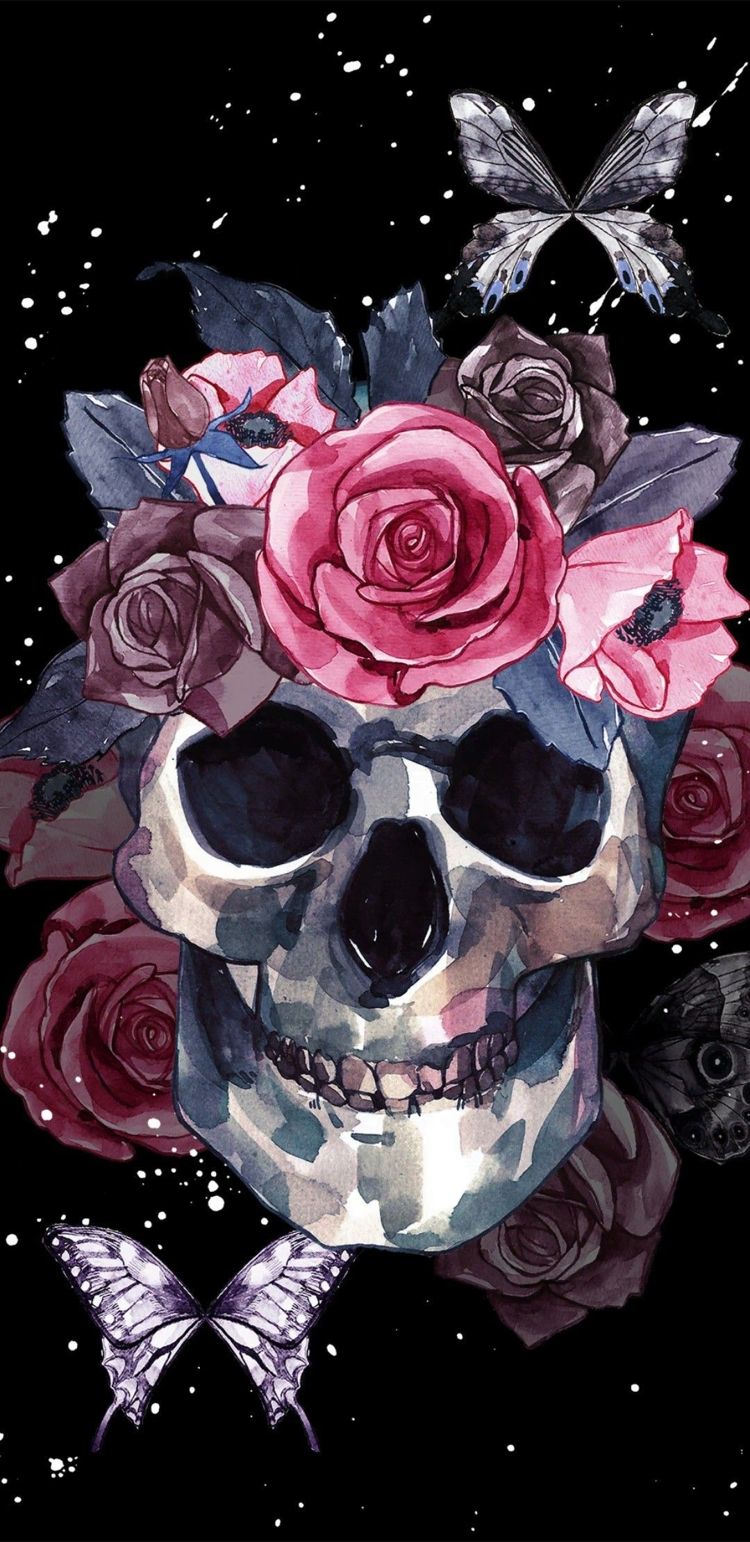 Skull Phone Wallpapers Top Free Skull Phone Backgrounds