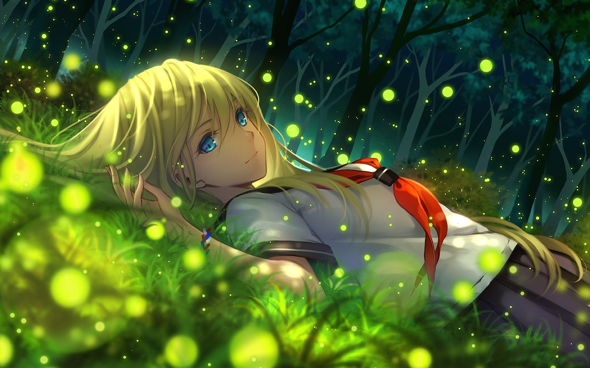 Green Anime Wallpapers Top Free Green Anime Backgrounds Wallpaperaccess