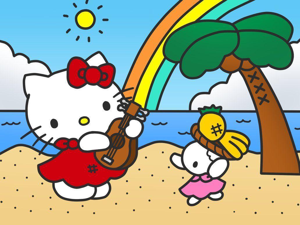babed4dec 1032x774 Hello Kitty in Beach by Kittykun123 on DeviantArt
