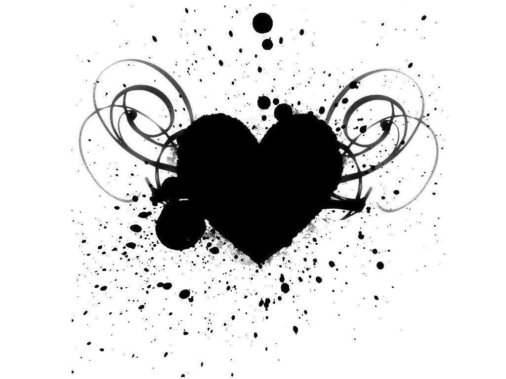Heart Black And White Wallpapers Top Free Heart Black And