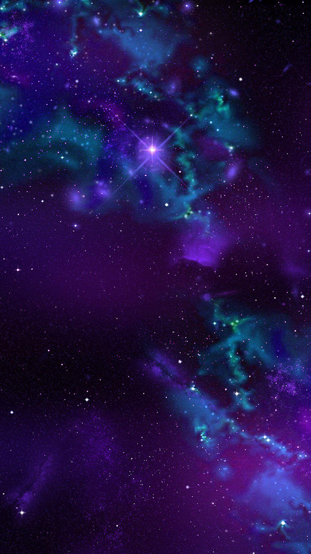 Purple Galaxy Iphone Wallpapers Top Free Purple Galaxy