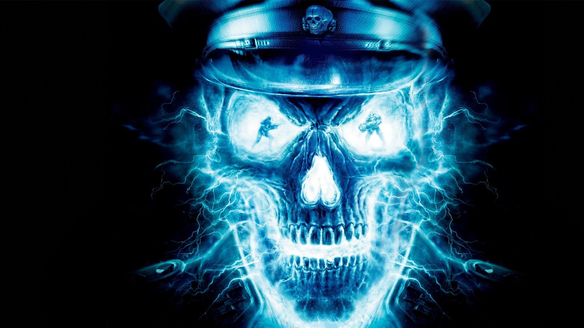 Blue Skull Wallpapers Top Free Blue Skull Backgrounds Wallpaperaccess