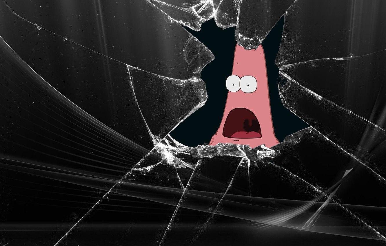 Hình nền 1332x850 Hài hước, Patrick, Hình ảnh màn hình bị hỏng cho máy tính để bàn