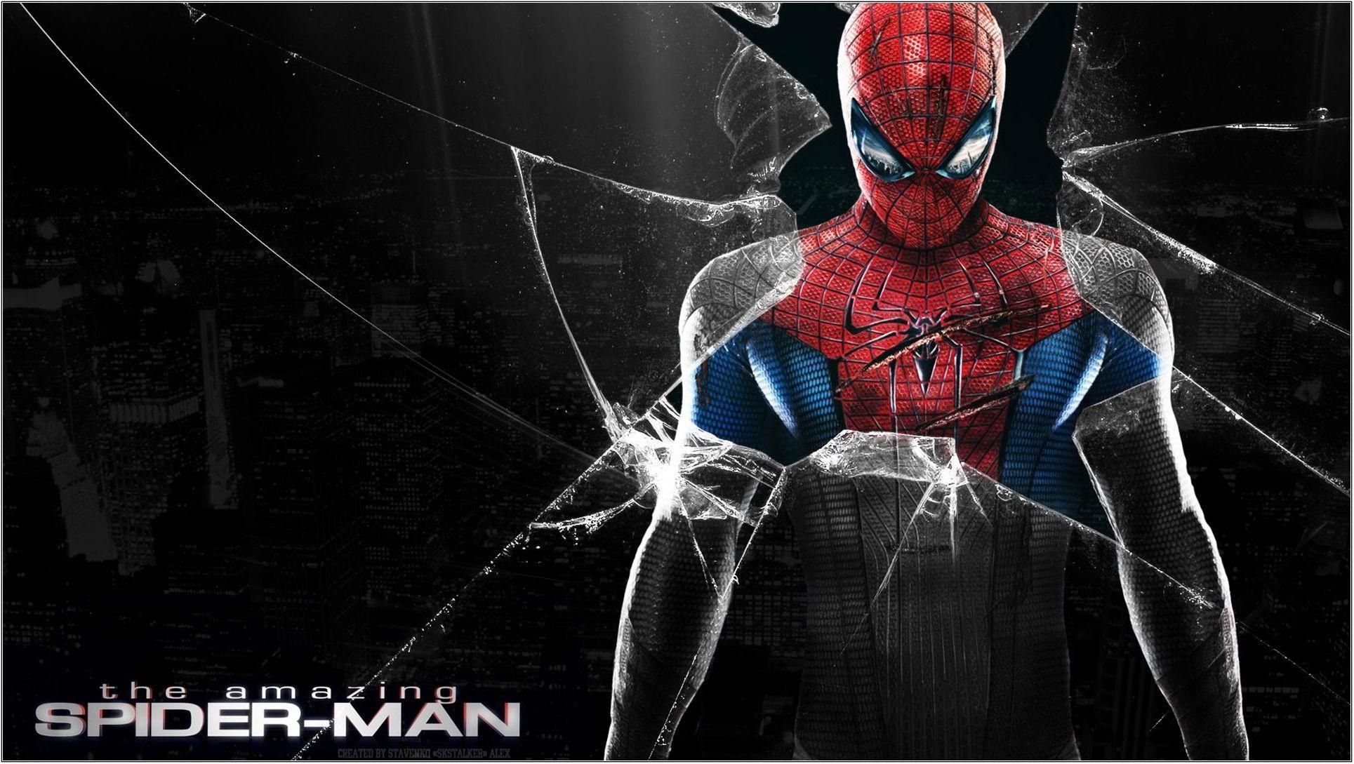 1929x1089 Broken Screen Wallpaper HD - Spider Man Photo 3D, Tải xuống