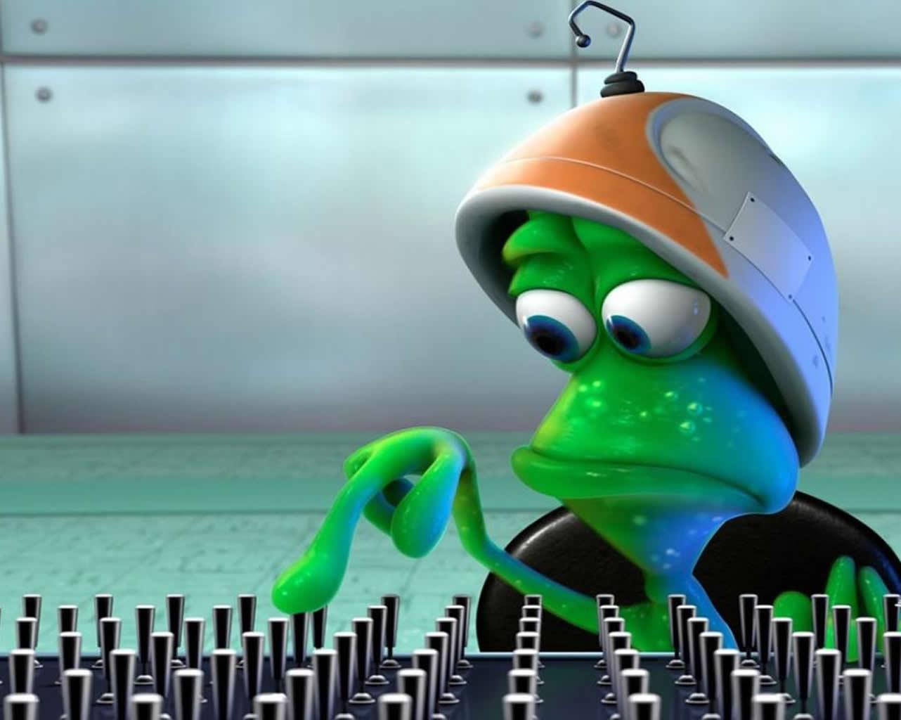 Cute Alien Desktop Wallpapers
