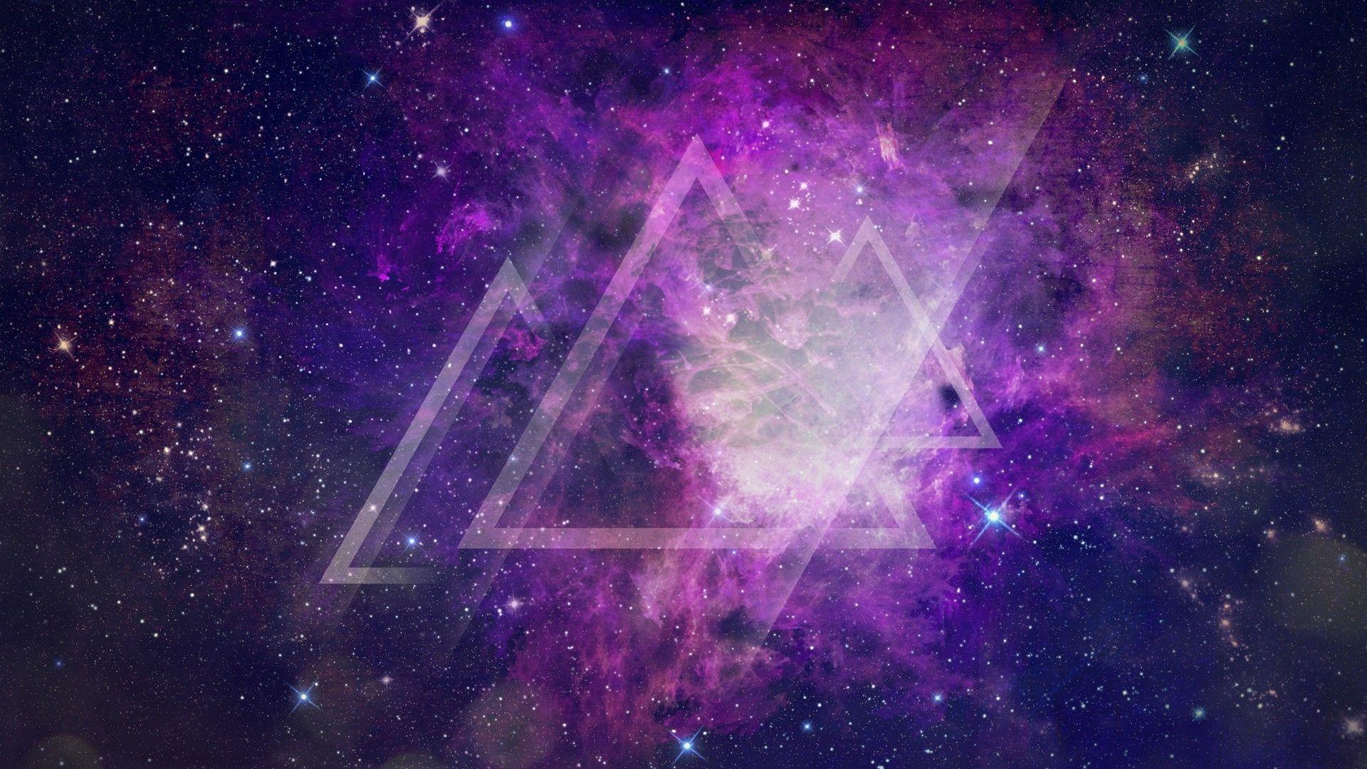 1920x1080 ánh sáng ngoài không gian sao hình dạng tam giác thiết kế đồ họa sáng