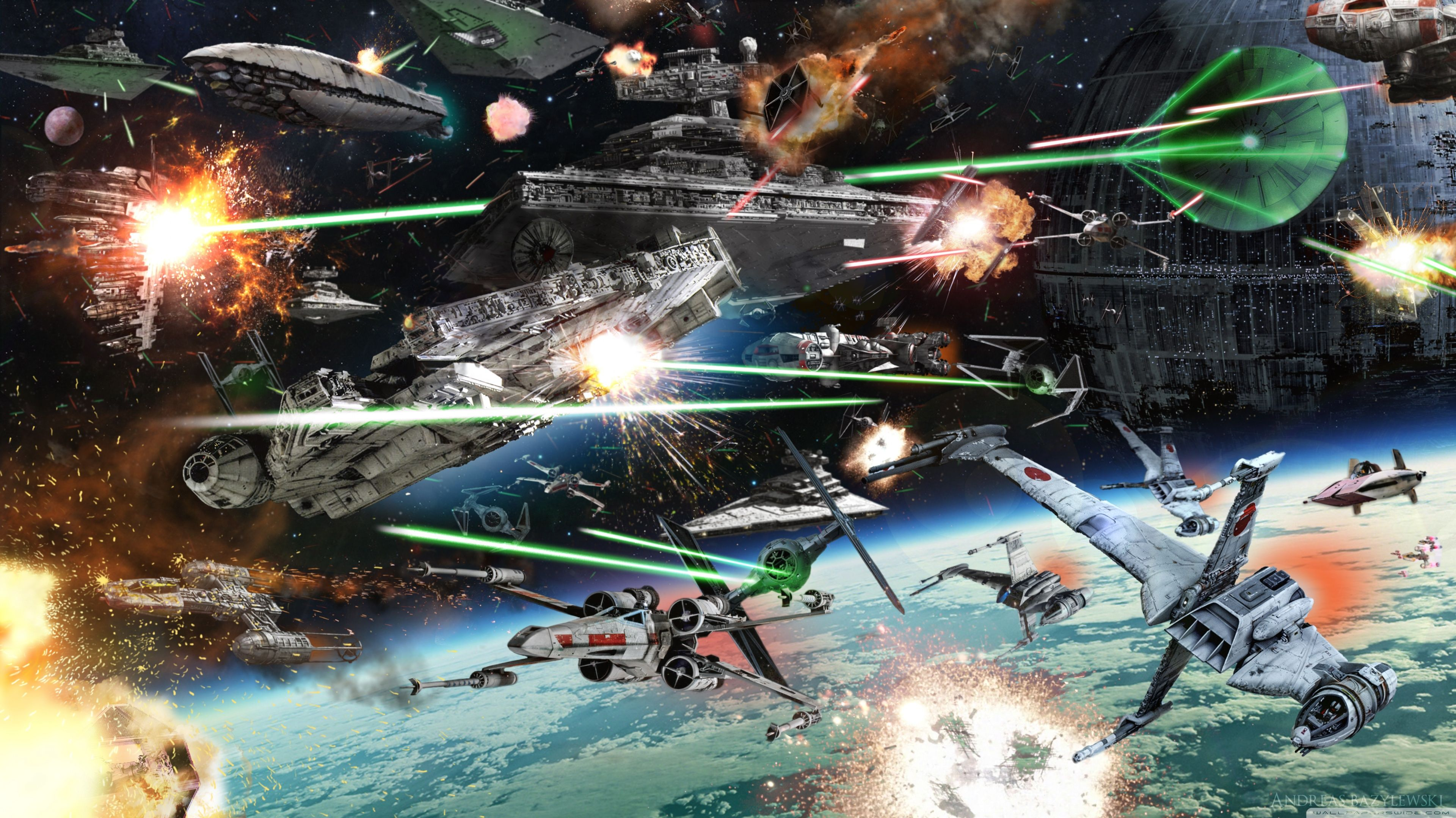 Star Wars Battle Wallpapers Top Free Star Wars Battle Backgrounds Wallpaperaccess