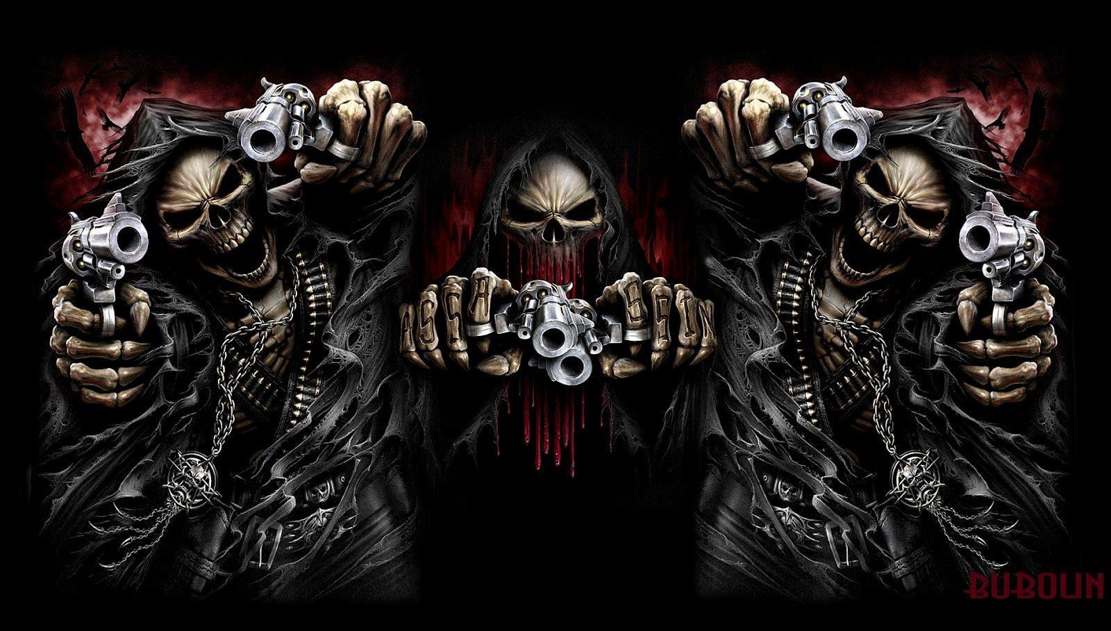 Death skull wallpapers top free death skull backgrounds - Skeleton wallpaper ...