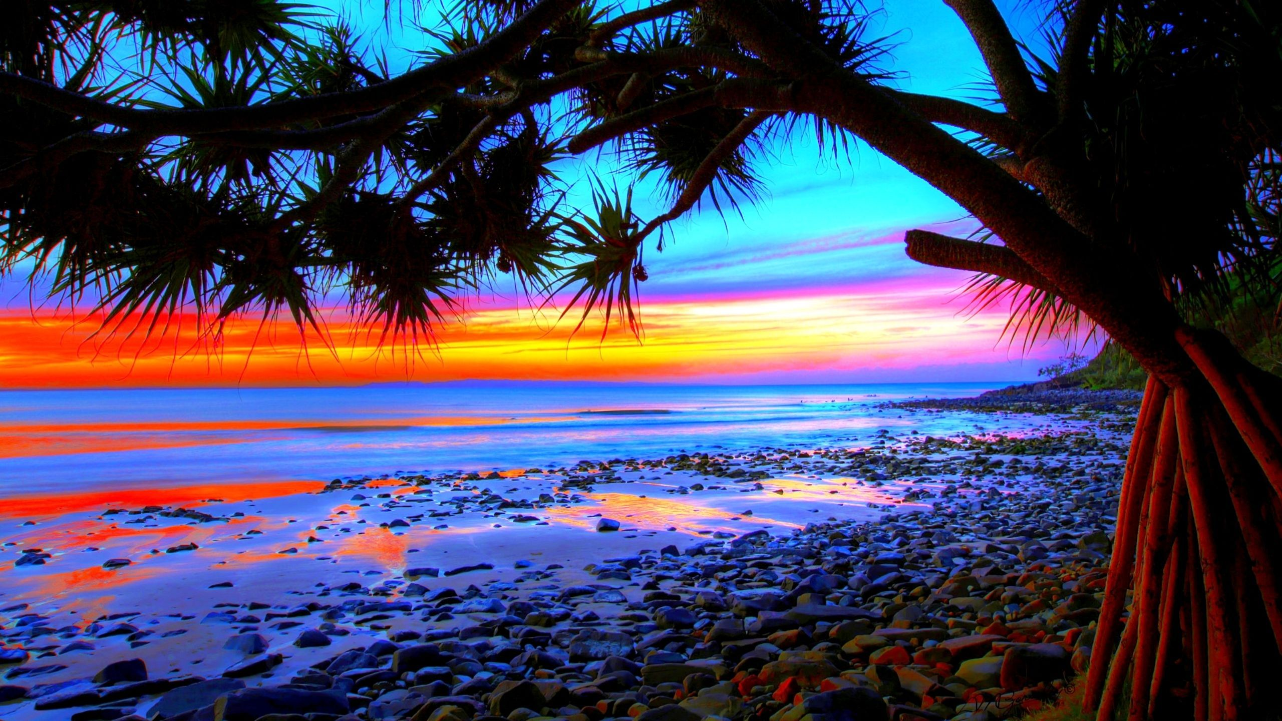 Colorful Beach Sunset Wallpapers Top Free Colorful Beach Sunset Backgrounds Wallpaperaccess