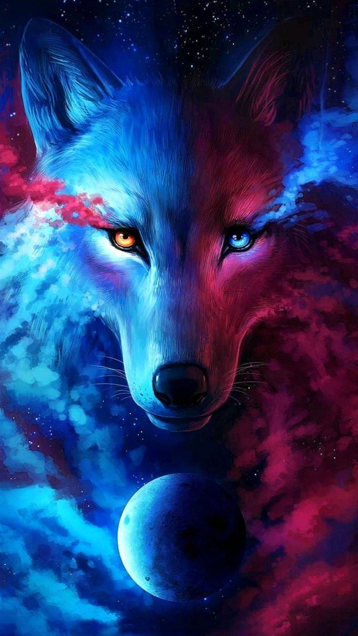 Red And Blue Wolf Wallpapers Top Free Red And Blue Wolf Backgrounds Wallpaperaccess