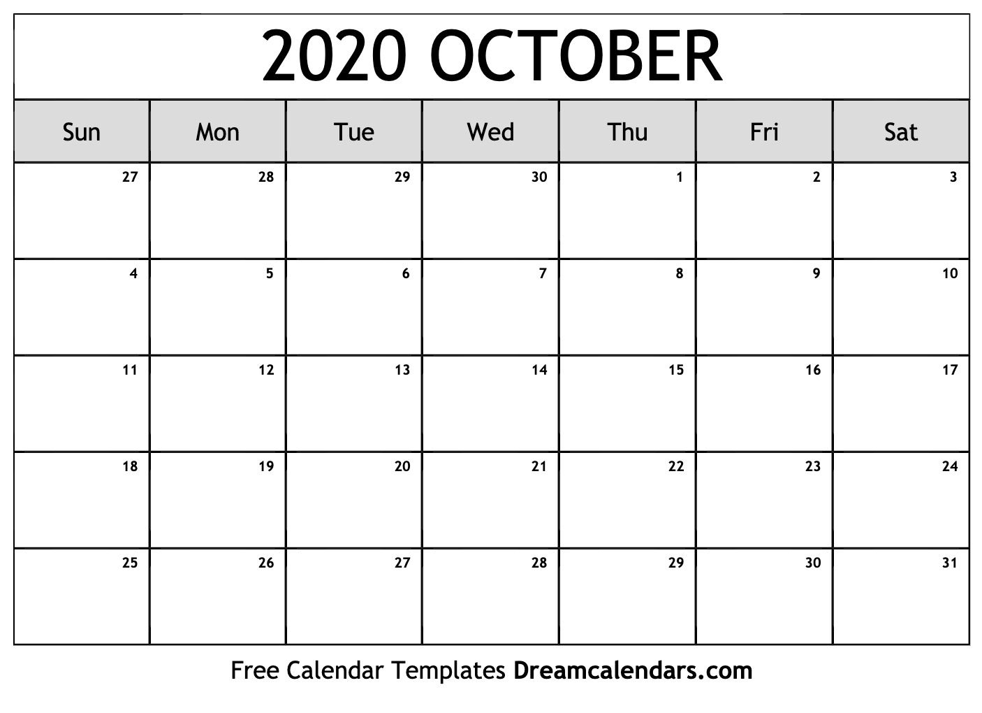 October 2020 Calendar Wallpapers Top Free October 2020 Calendar Backgrounds Wallpaperaccess
