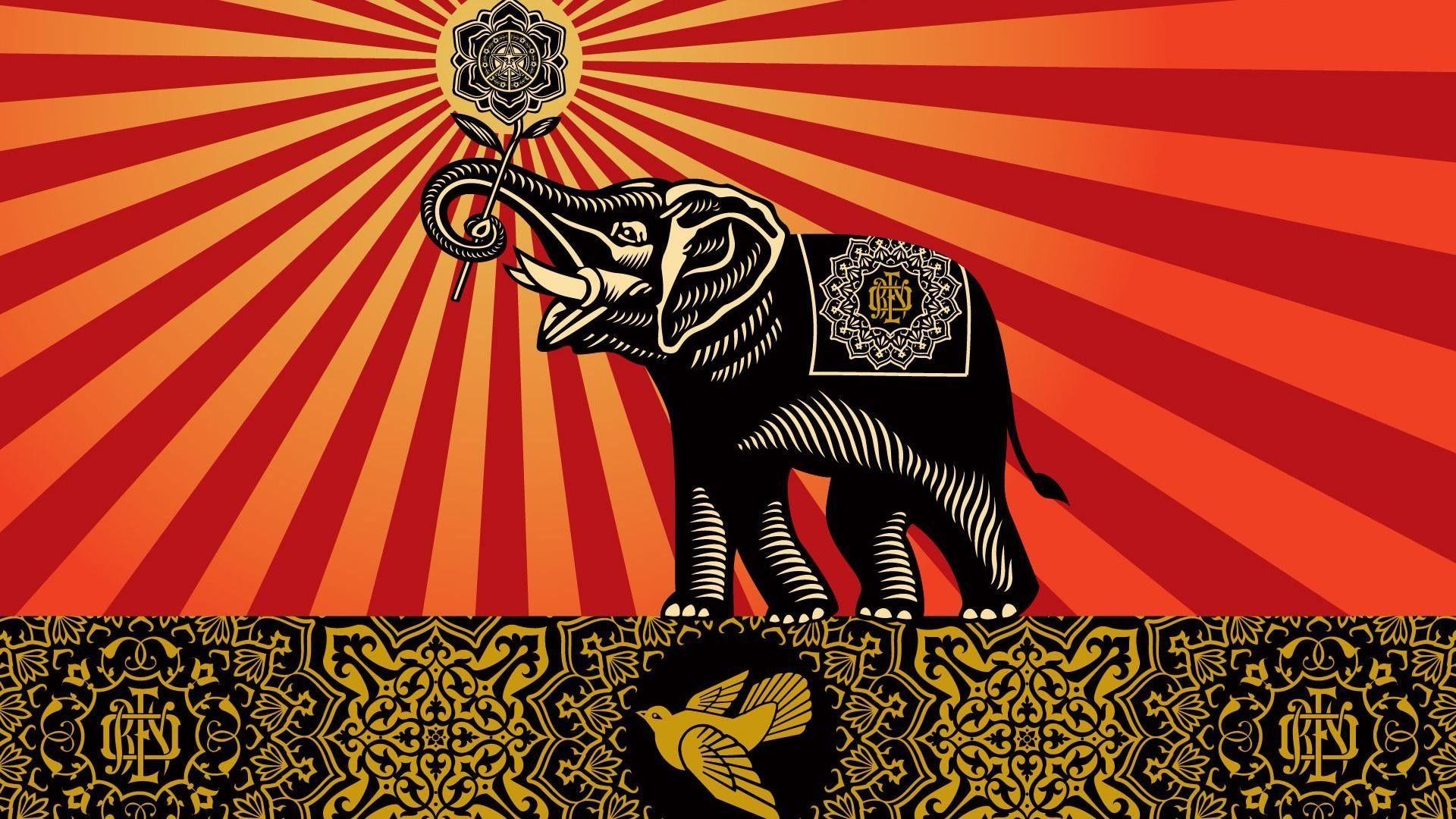 Elephant Art Wallpapers Top Free Elephant Art Backgrounds