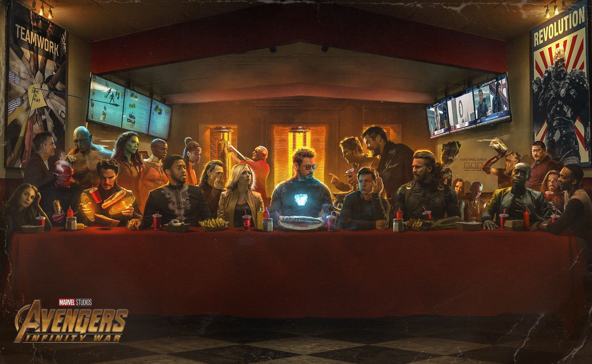 The Last Supper Wallpapers Top Free The Last Supper Backgrounds Wallpaperaccess