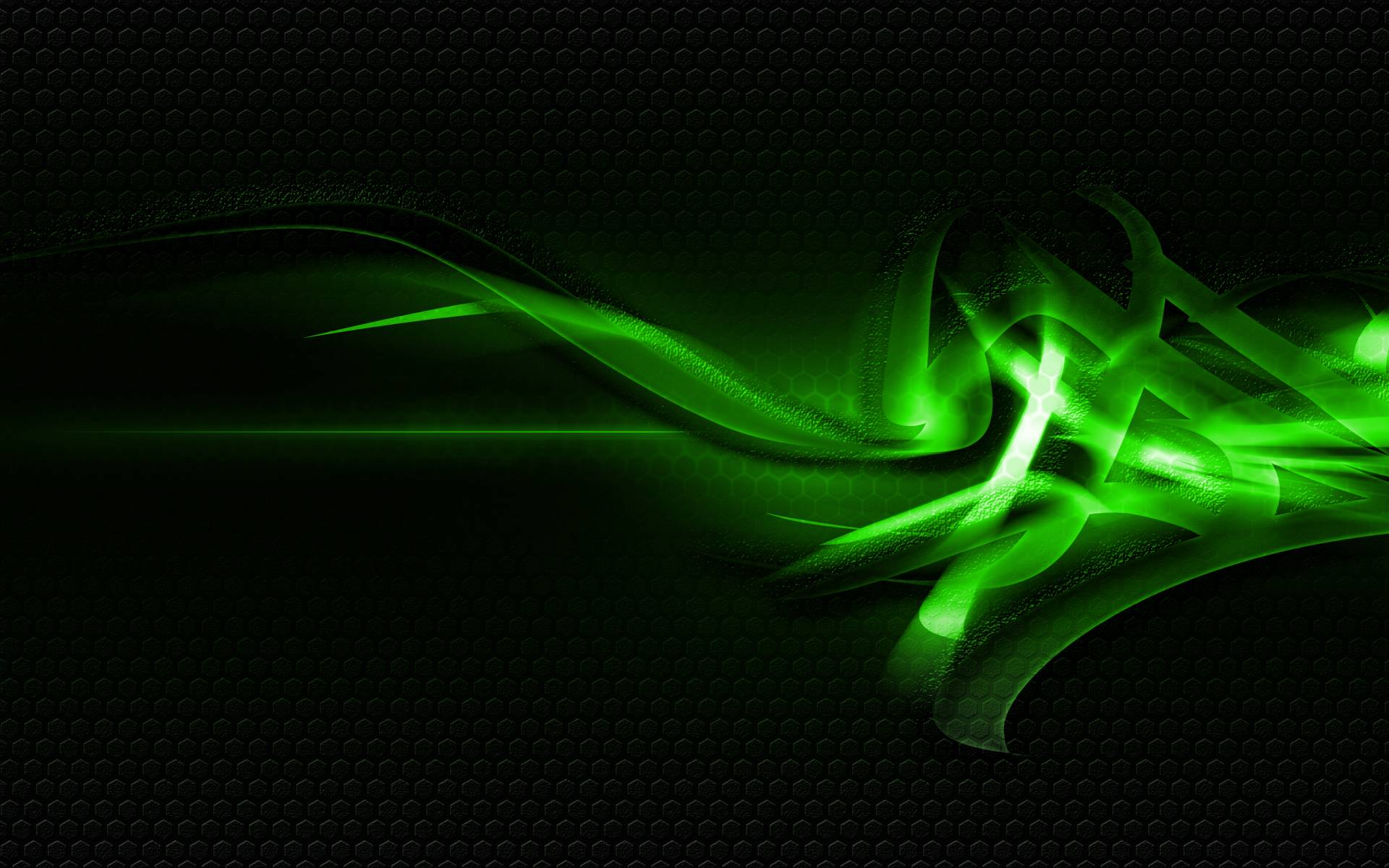 Abstract Art Background Green