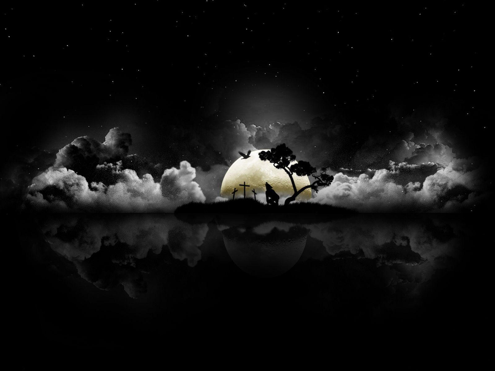 Hình nền 1600x1200: Good Night Wallpaper In 3D