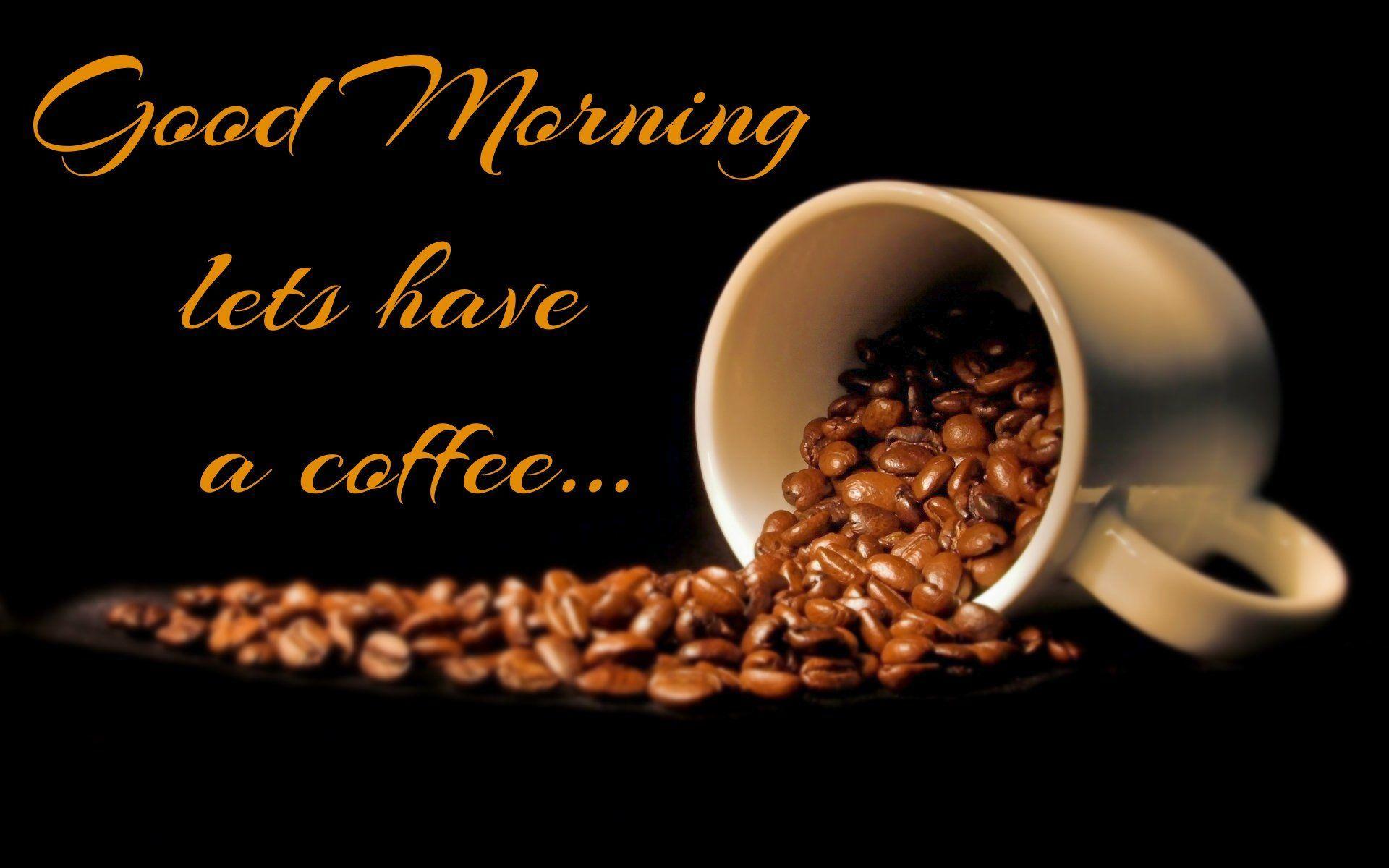 1920x1200 Tải xuống Chào buổi sáng với hình nền cà phê