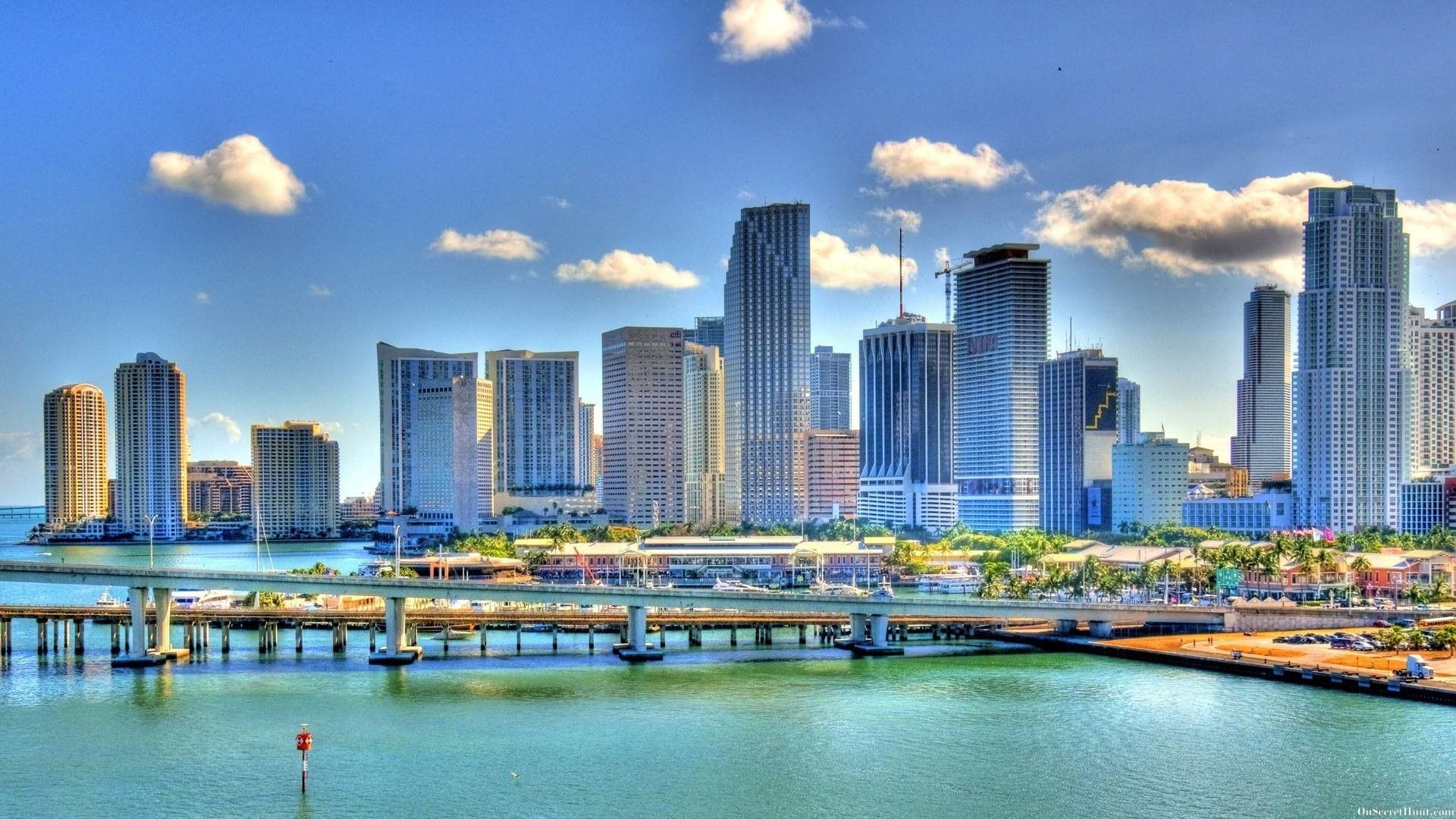 Miami Skyline Wallpapers - Top Free