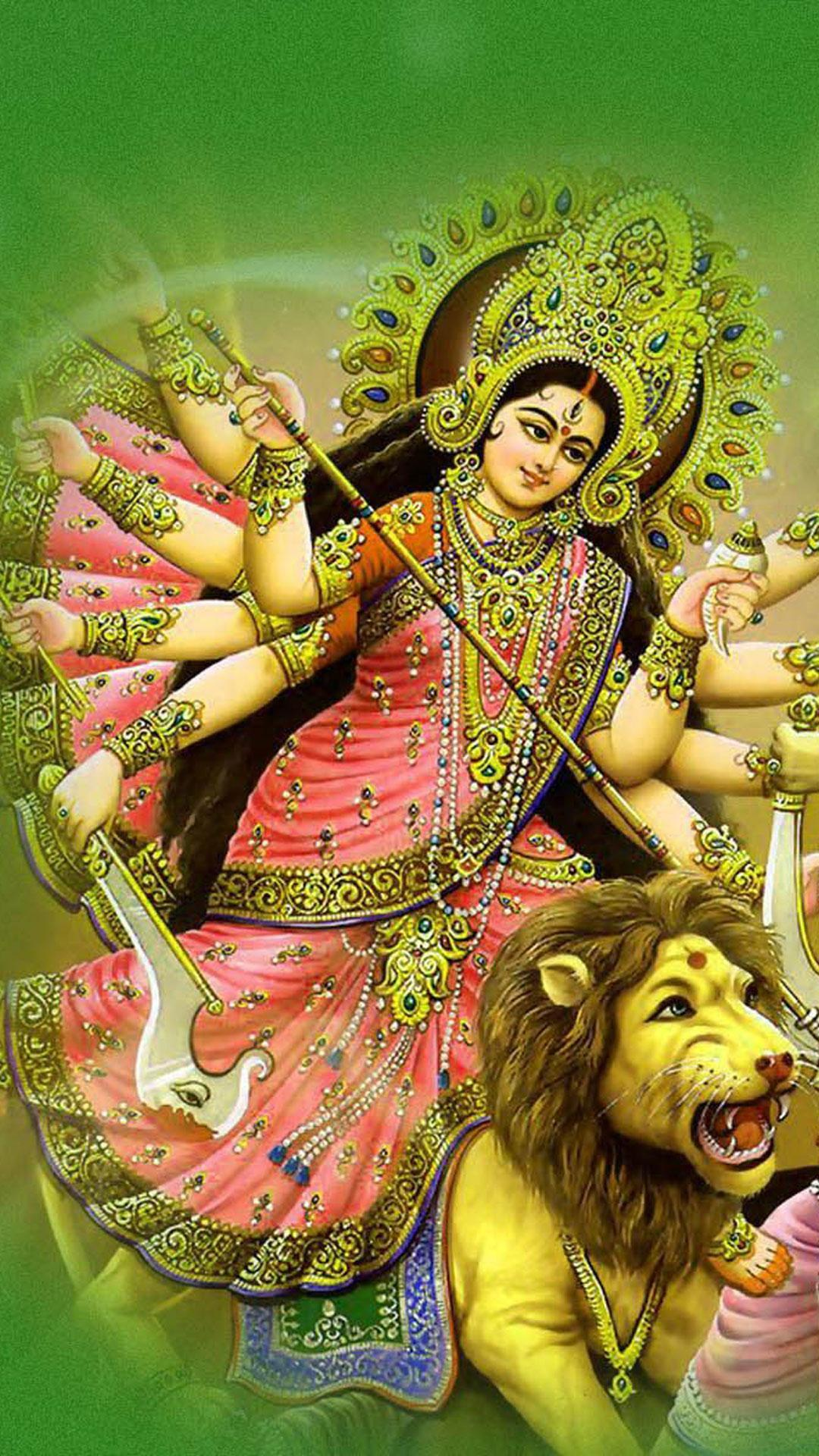 Maa Durga Close Up HD Wallpaper Photos For Desktop PC - HD