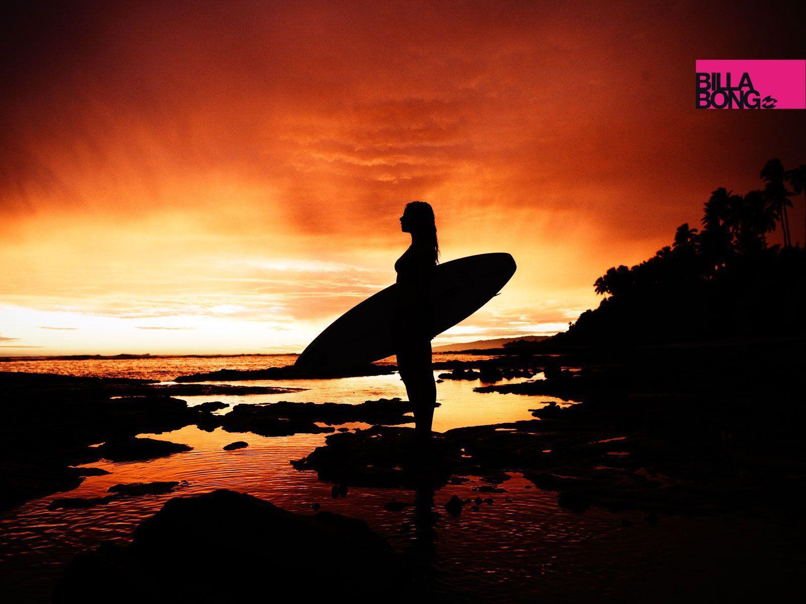 Surf Girl Sunset Wallpapers Top Free Surf Girl Sunset
