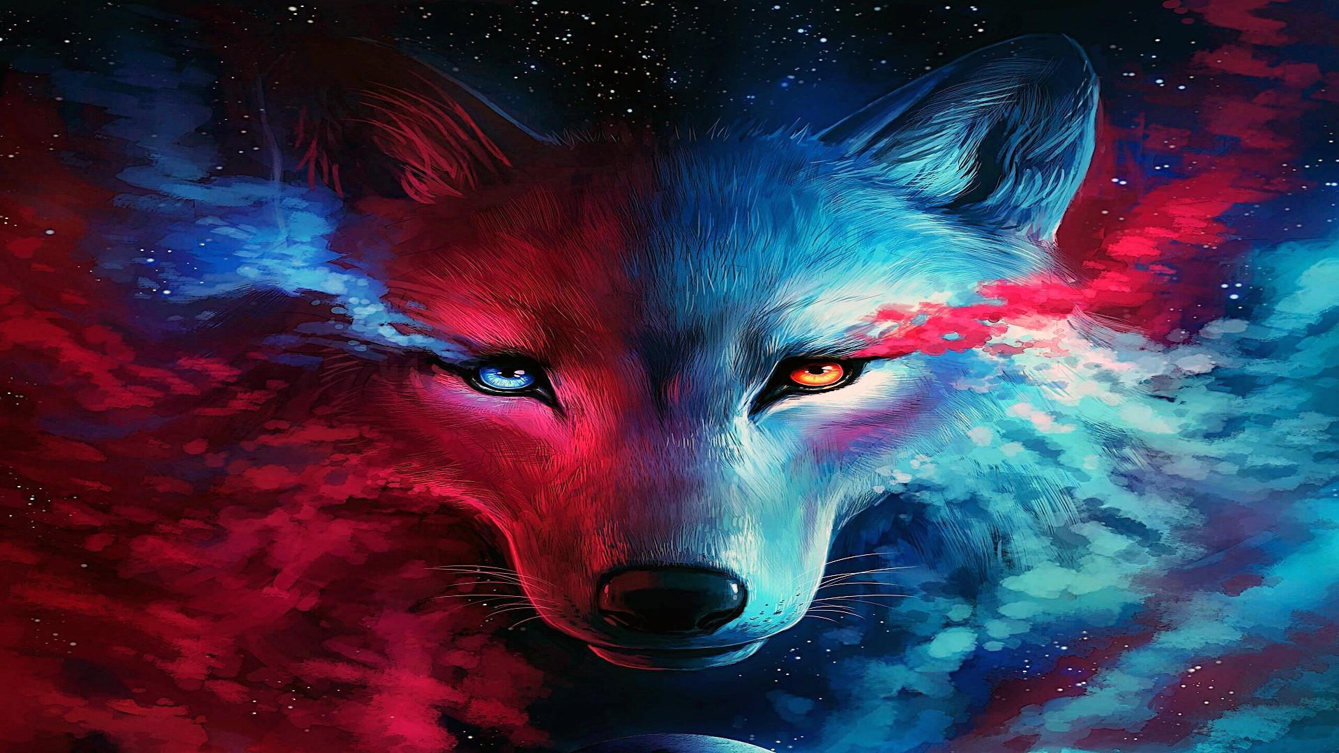 Galaxy Wolf Wallpapers Top Free Galaxy Wolf Backgrounds