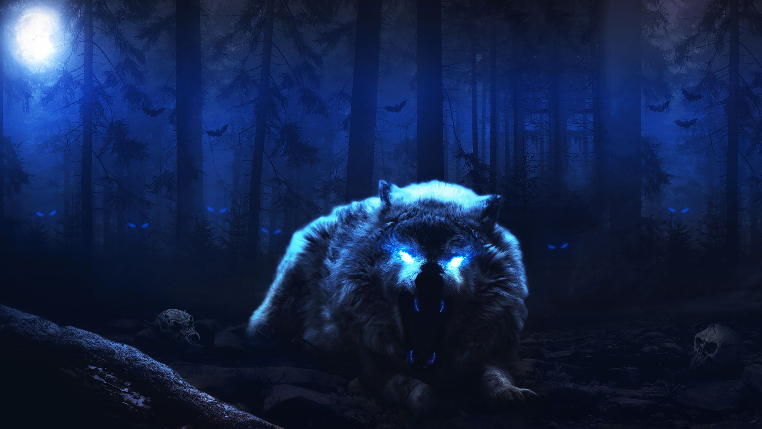 Creepy Wolf Wallpapers - Top Free ...