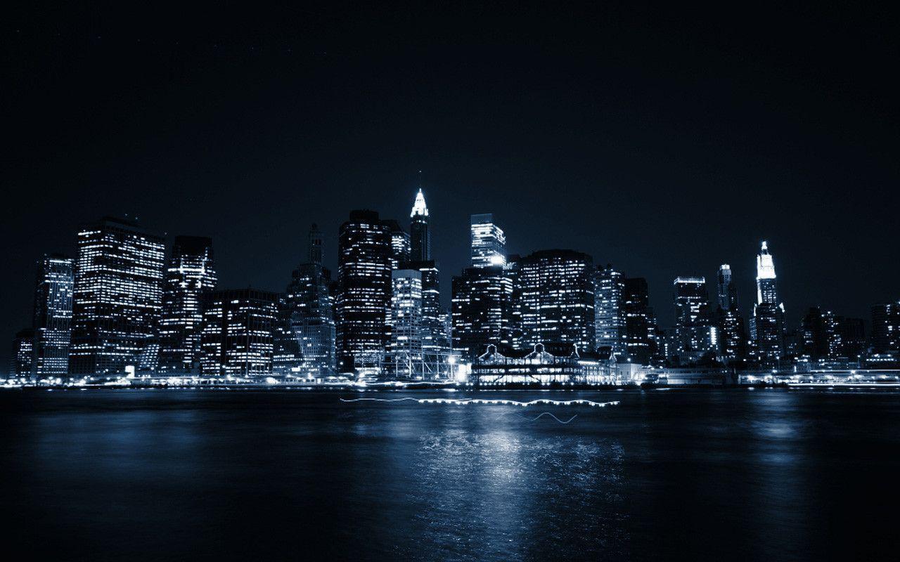 Manhattan Night Skyline Wallpapers Top Free Manhattan Night Skyline Backgrounds Wallpaperaccess