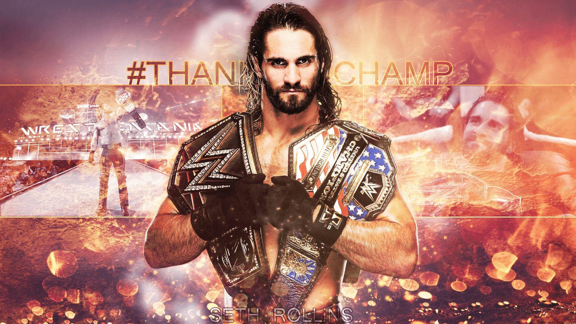 45+ Seth Rollins Wallpaper Universal Champion Background
