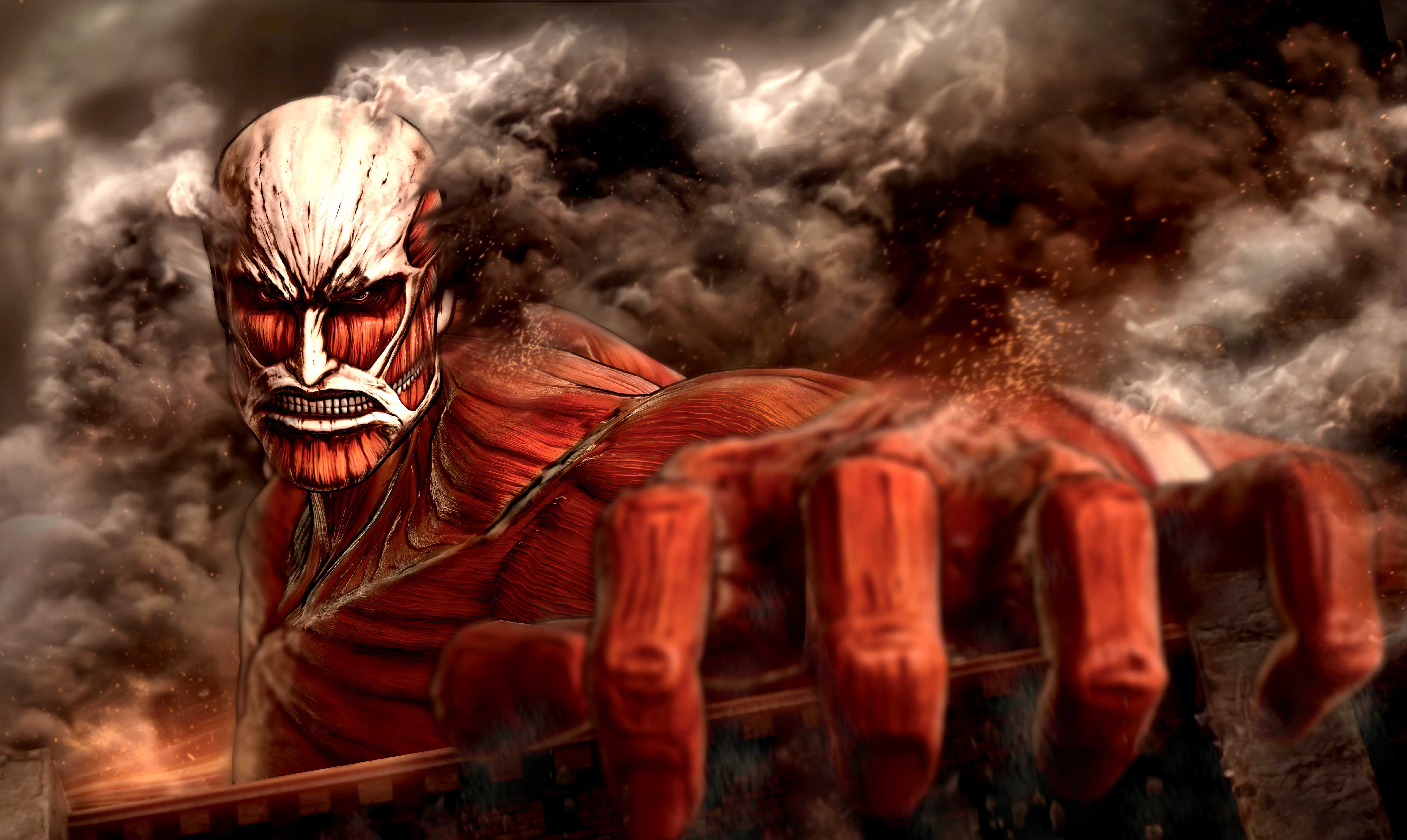 Colossal Titan Wallpapers Top Free Colossal Titan Backgrounds Wallpaperaccess