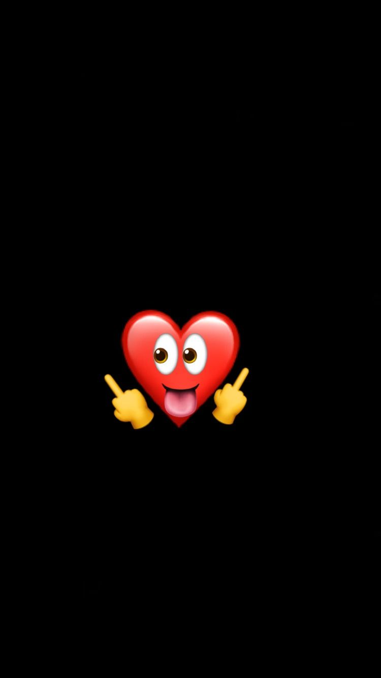 Iphone Black Heart Wallpaper Hd