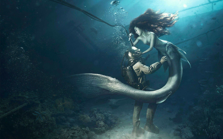 Hd Mermaid Wallpapers Top Free Hd Mermaid Backgrounds Wallpaperaccess