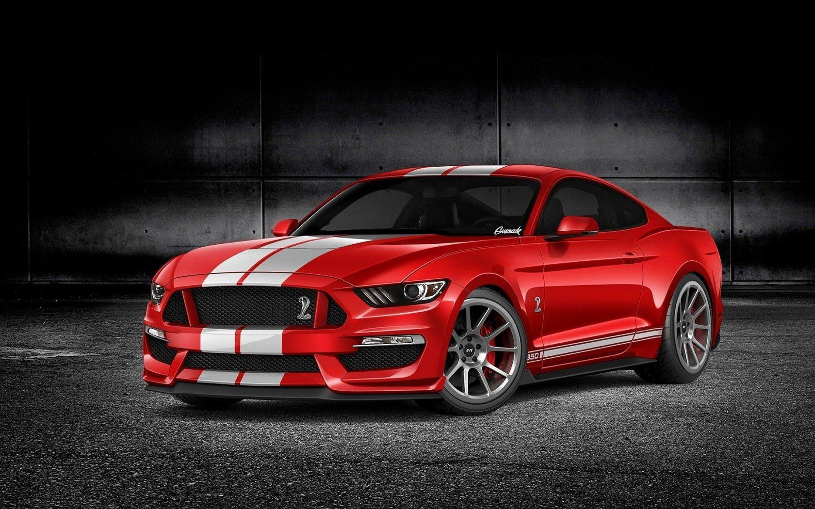 Red Ford Mustang Wallpapers Top Free Red Ford Mustang Backgrounds Wallpaperaccess
