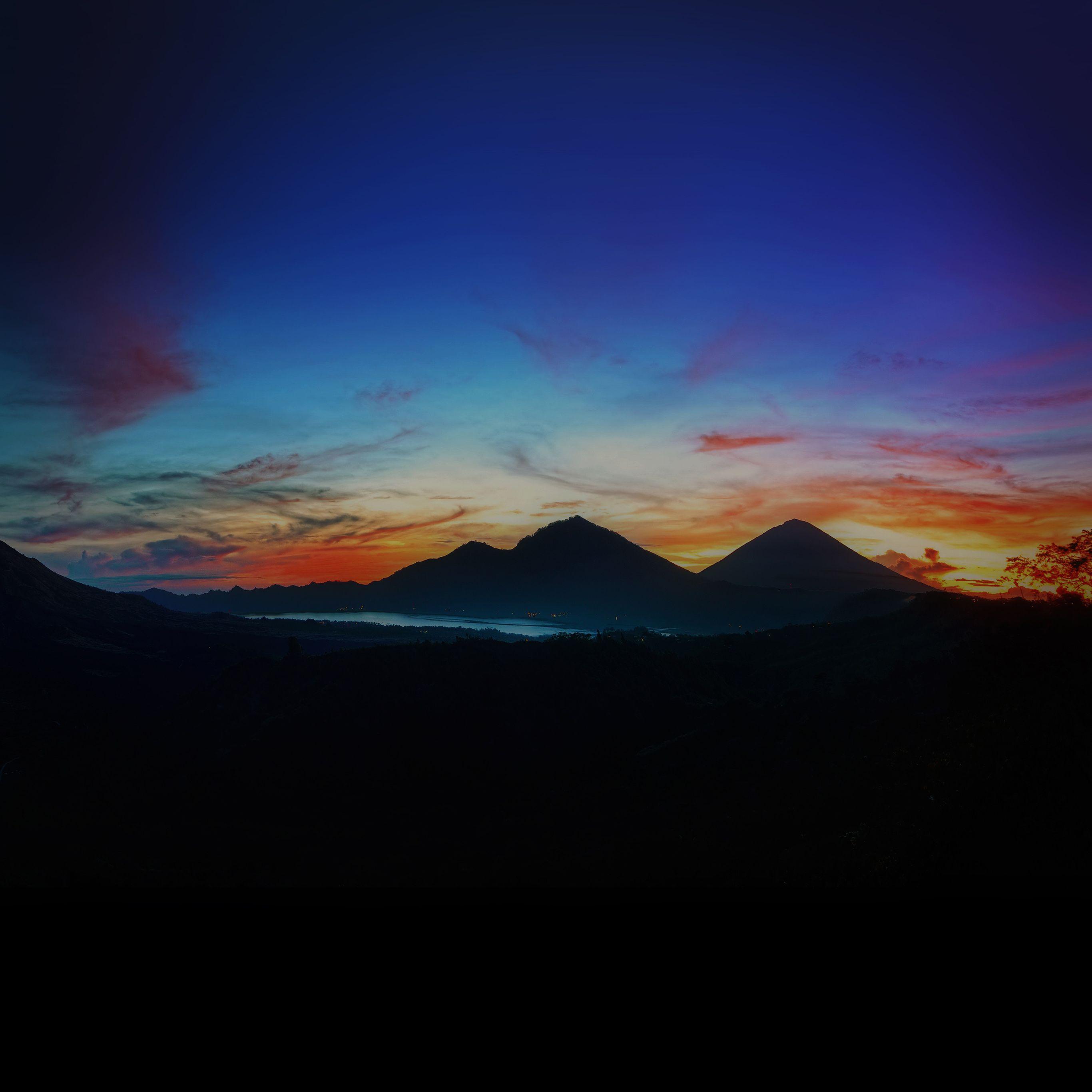 2732x2732 Mountain Sunrise Hình nền đẹp nhất Bầu trời tối