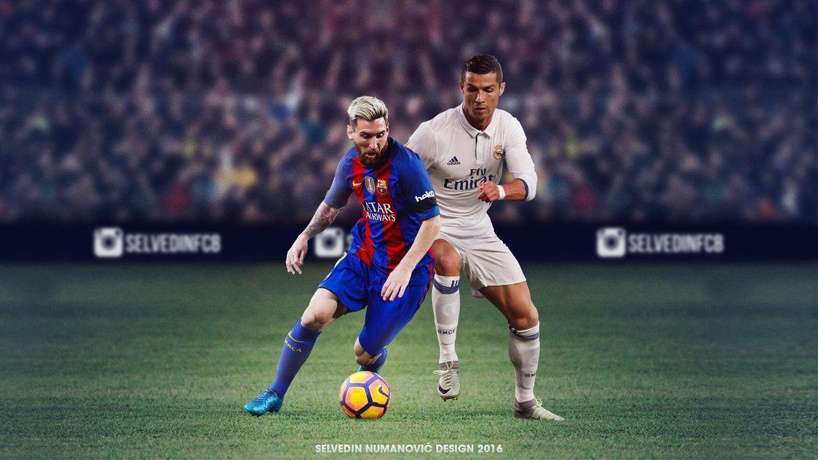 Hình nền HD 1191x670 Messi Ronaldo