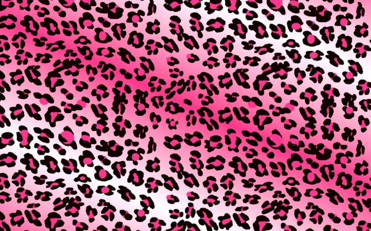 Hình nền 1190x744 Pink Leopard Print