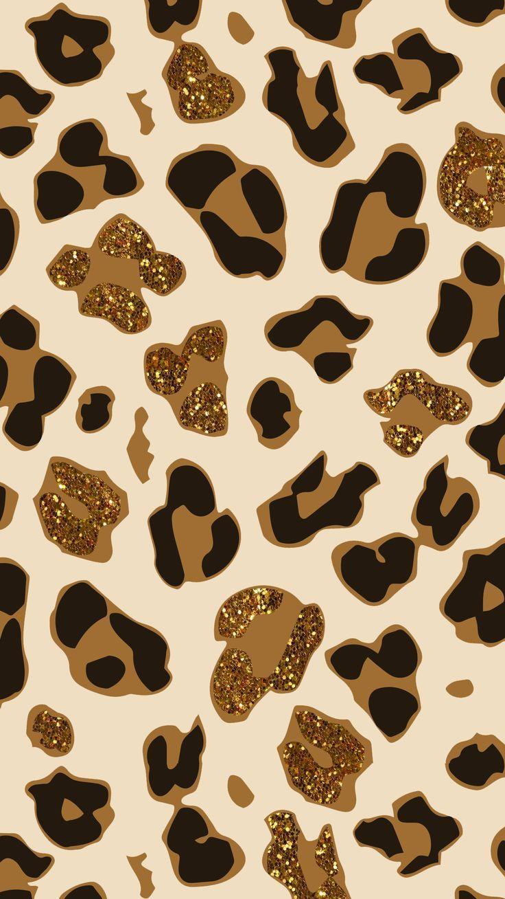 736x1308 Nội thất & Trang trí: Hình nền In Cheetah độc đáo cho Tường
