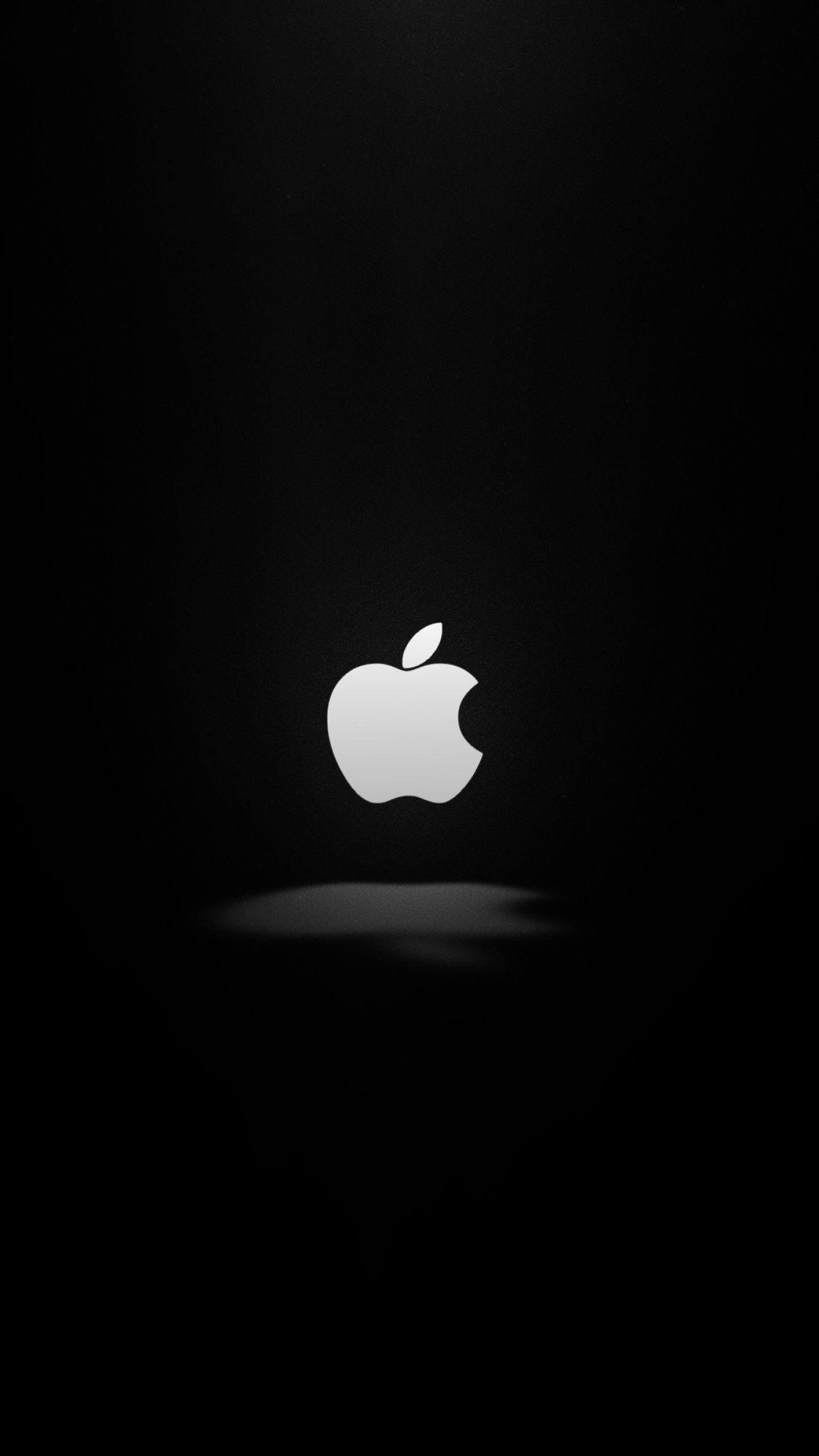 1440x2560 Hình nền Apple, Tối, Logo, 4K, Tối thiểu