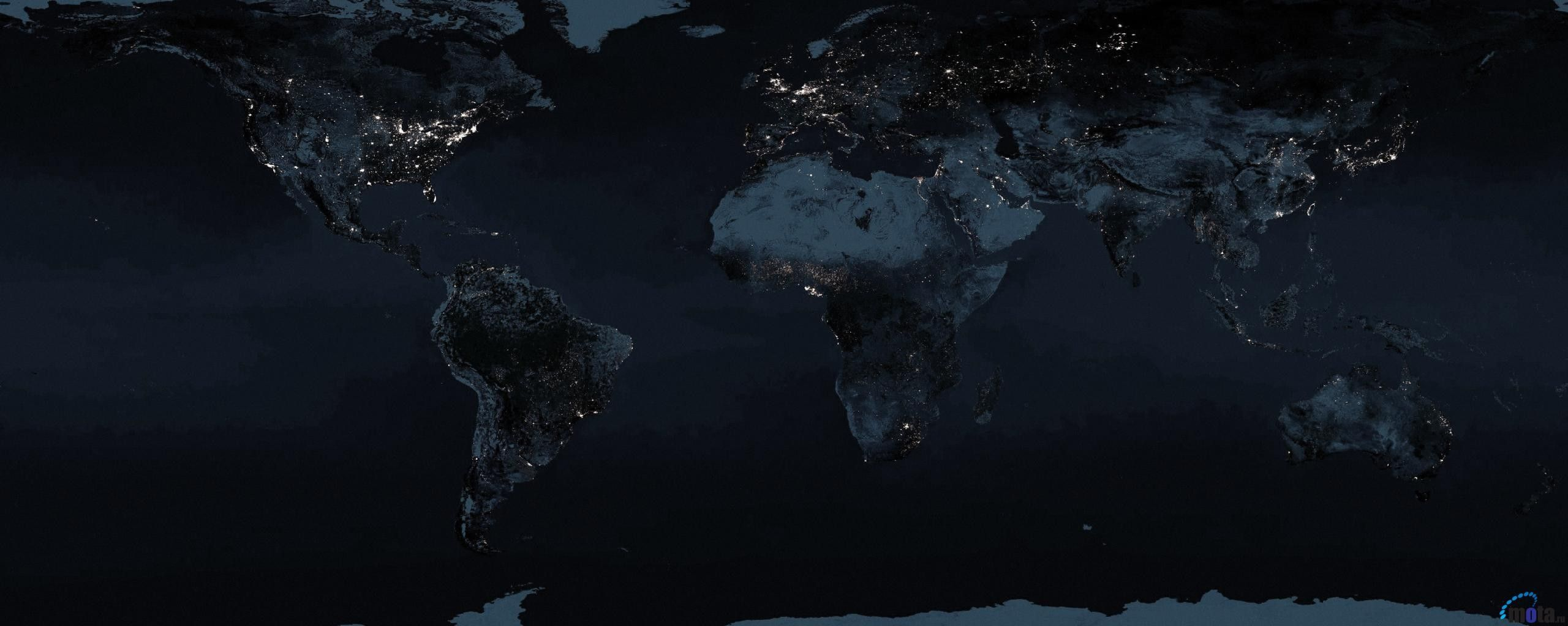 Day And Night World Map Desktop on